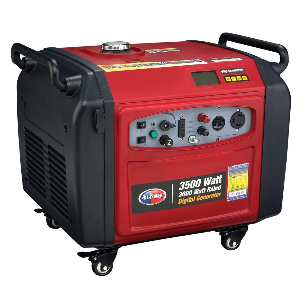 All Power 3,500-Watt Gasoline Powered Digital Inverter Generator
