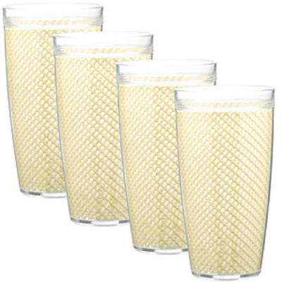 Fishnet 22 oz. Ivory Insulated Drinkware (Set of 4)