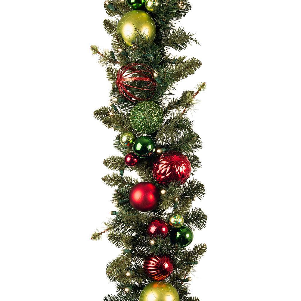 9 ft. Pre-Lit LED Festive Holiday Garland