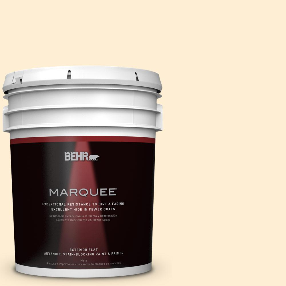 BEHR MARQUEE 5-gal. #M270-1 Pearly White Flat Exterior Paint