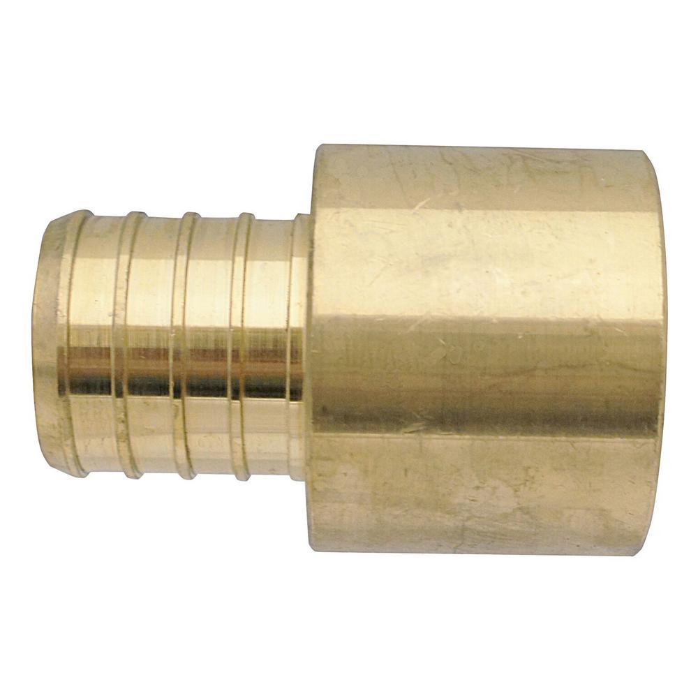 1 in. Brass PEX Barb x 1 in. Female Copper Sweat Adapter