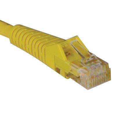10-ft. Cat5e / Cat5 350MHz Snagless Molded Patch Cable RJ45 - Yellow