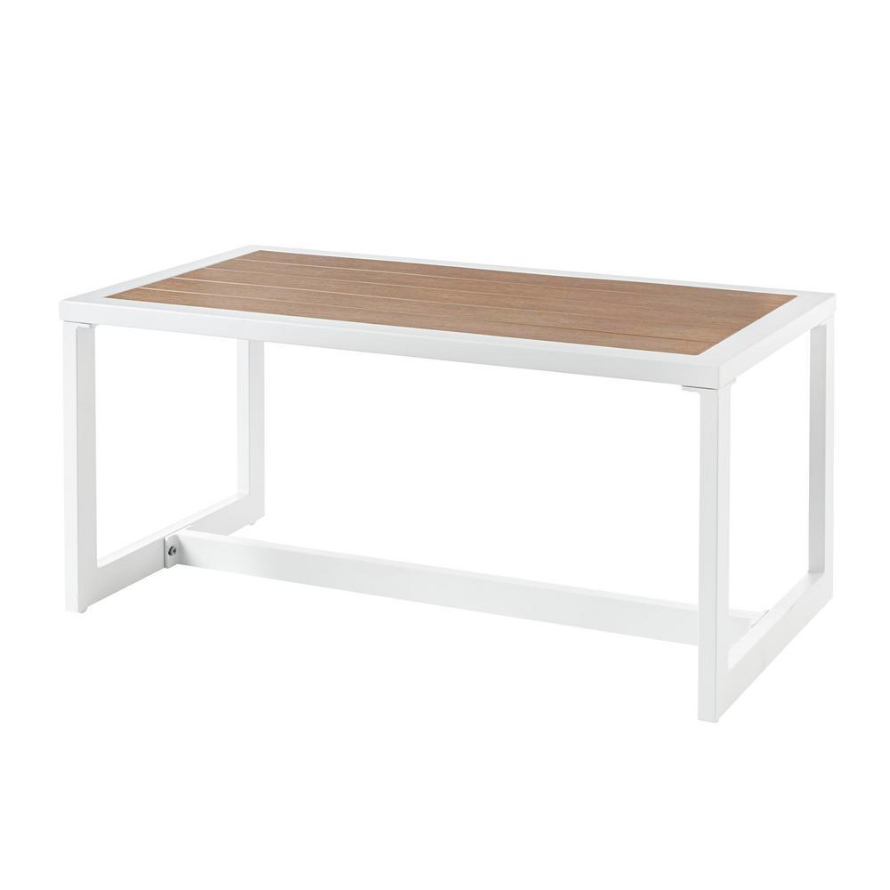 hampton bay West Park White Aluminum Outdoor Coffee Table