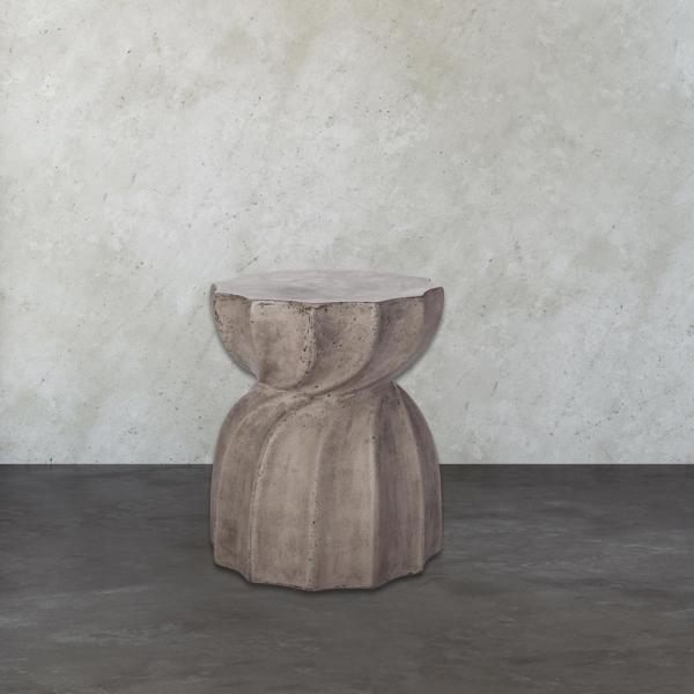 Noble House Maryellen Black Lightweight Concrete Cylinder