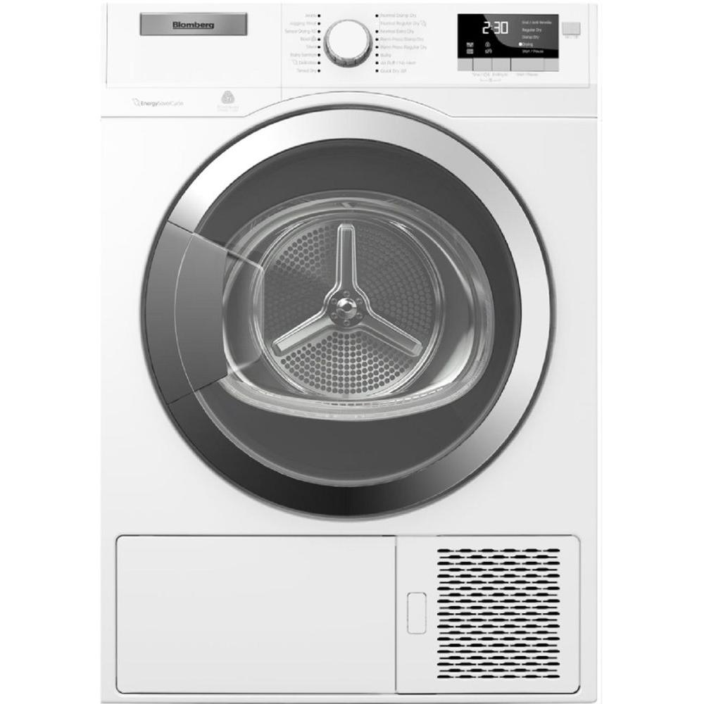 Blomberg Heat Pump Ventless 4 1 Cu Ft Electric Dryer In White With Chrome Door