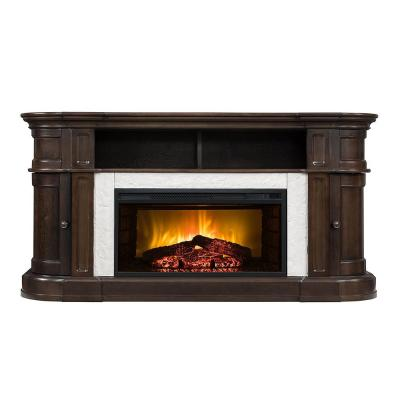 Teres 60 in. Electric Fireplace TV Stand in Espresso