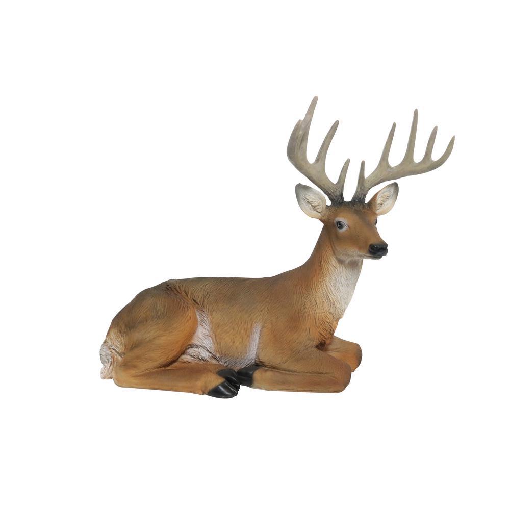 Alpine Corporation 14 In Tall Sitting Deer Statue Heh262