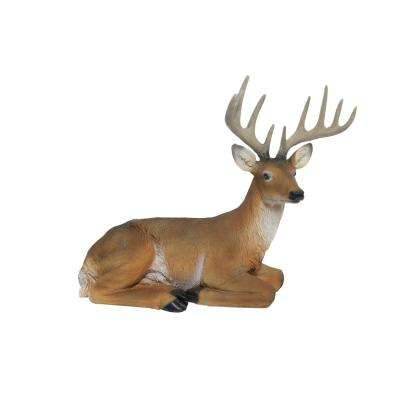 14 in. Tall Sitting Deer Statue