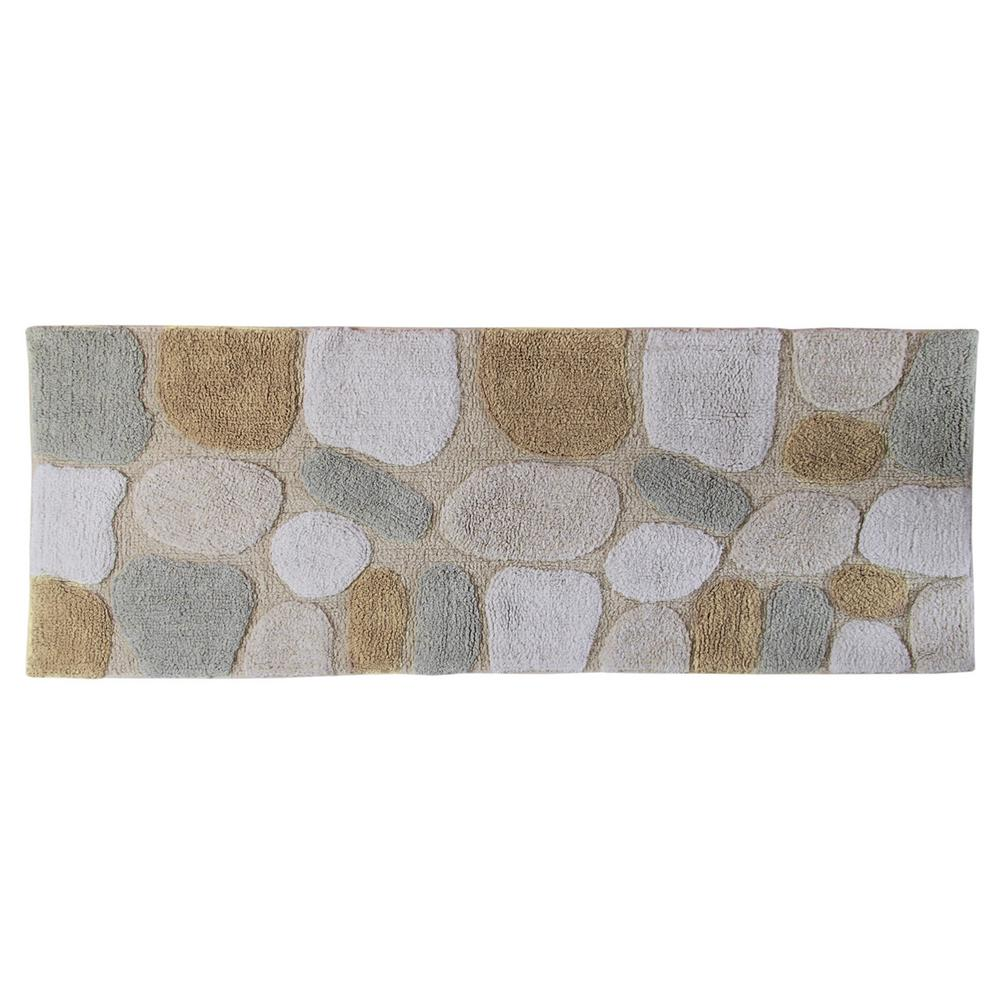 chesapeake merchandising 24 in x 60 in pebbles bath rug runner in rh homedepot com bathroom rug runners 60x24 bathroom rug runners 60x24