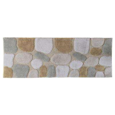 24 in. x 60 in. Pebbles Bath Rug Runner in Spa