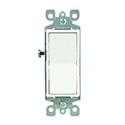 Decora 15 Amp Illuminated Switch, White on