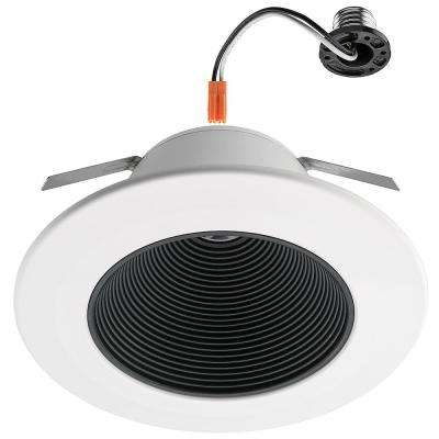 6 in. Black Ultra Low Glare Mini Step Integrated LED Recessed Trim