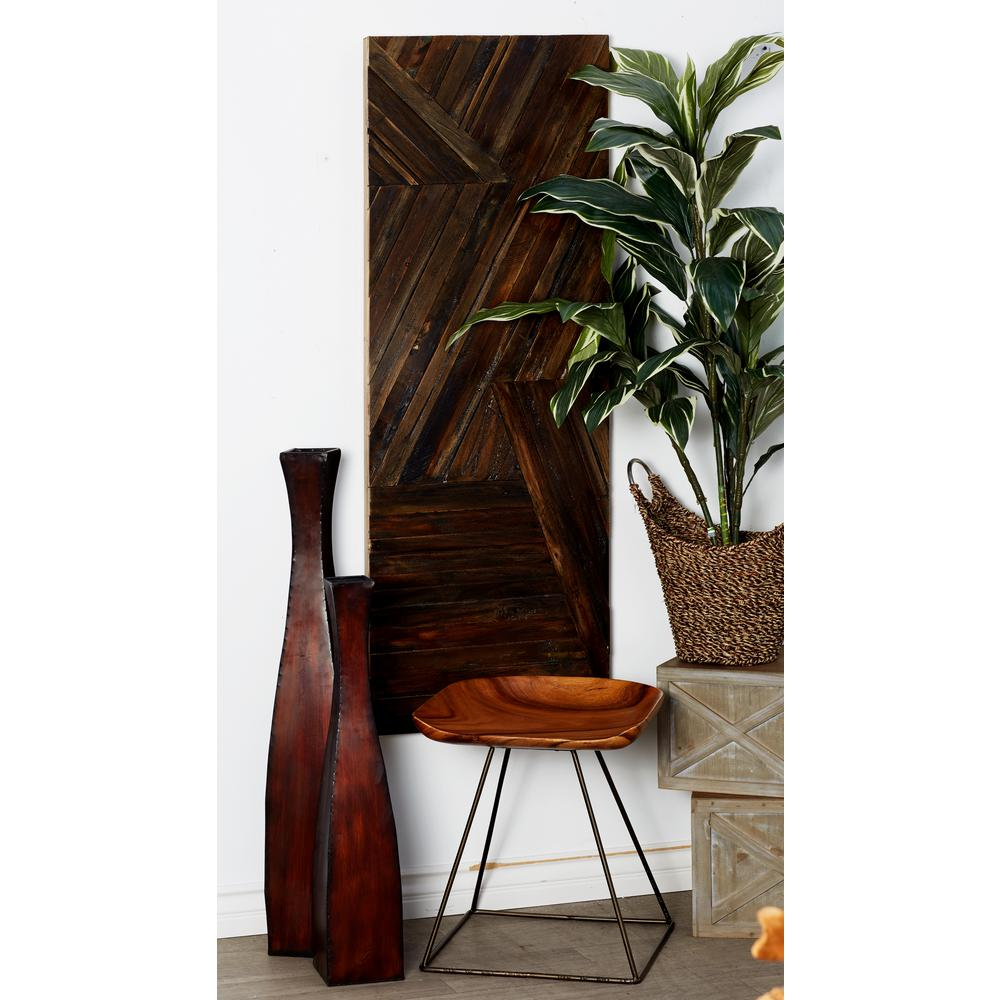 55 in. x 20 in. Overlapping Lines Wooden Wall Art
