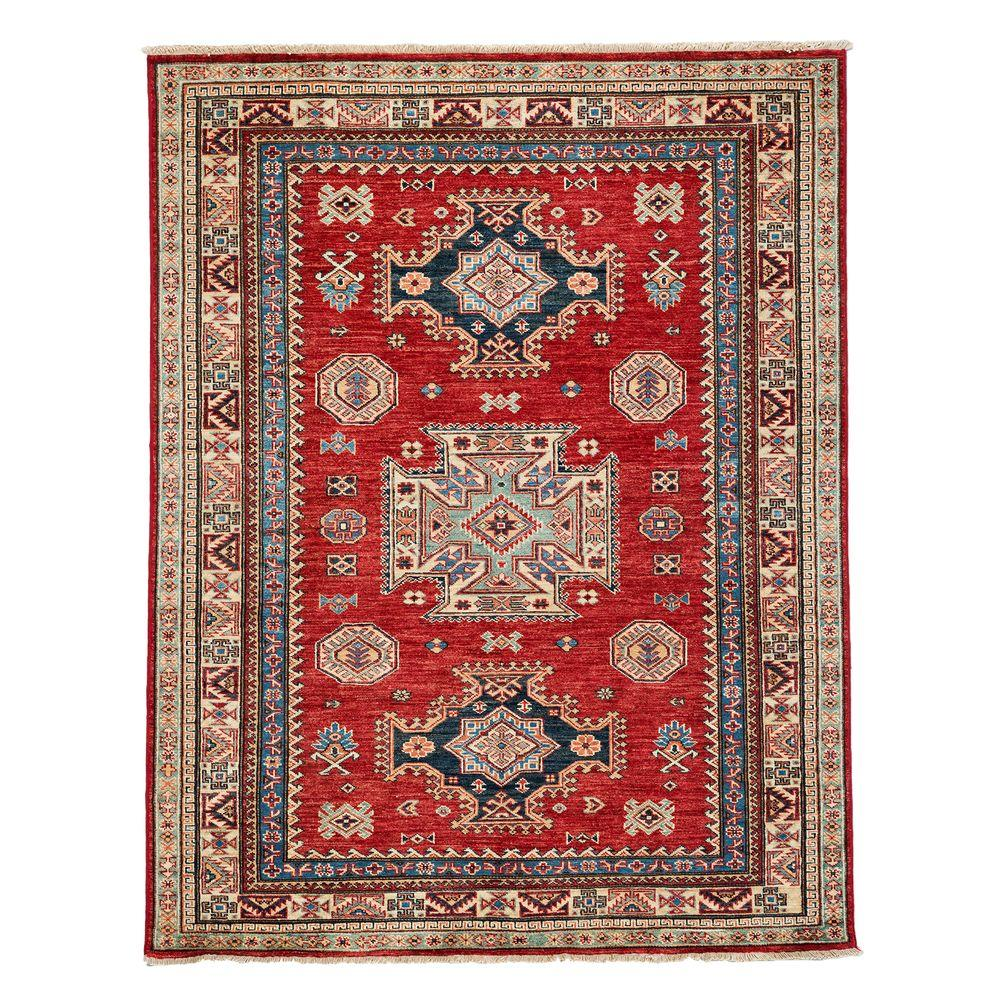 Darya Rugs Kazak Red 4 ft. 9 in. x 6 ft. 3 in. Indoor Area Rug
