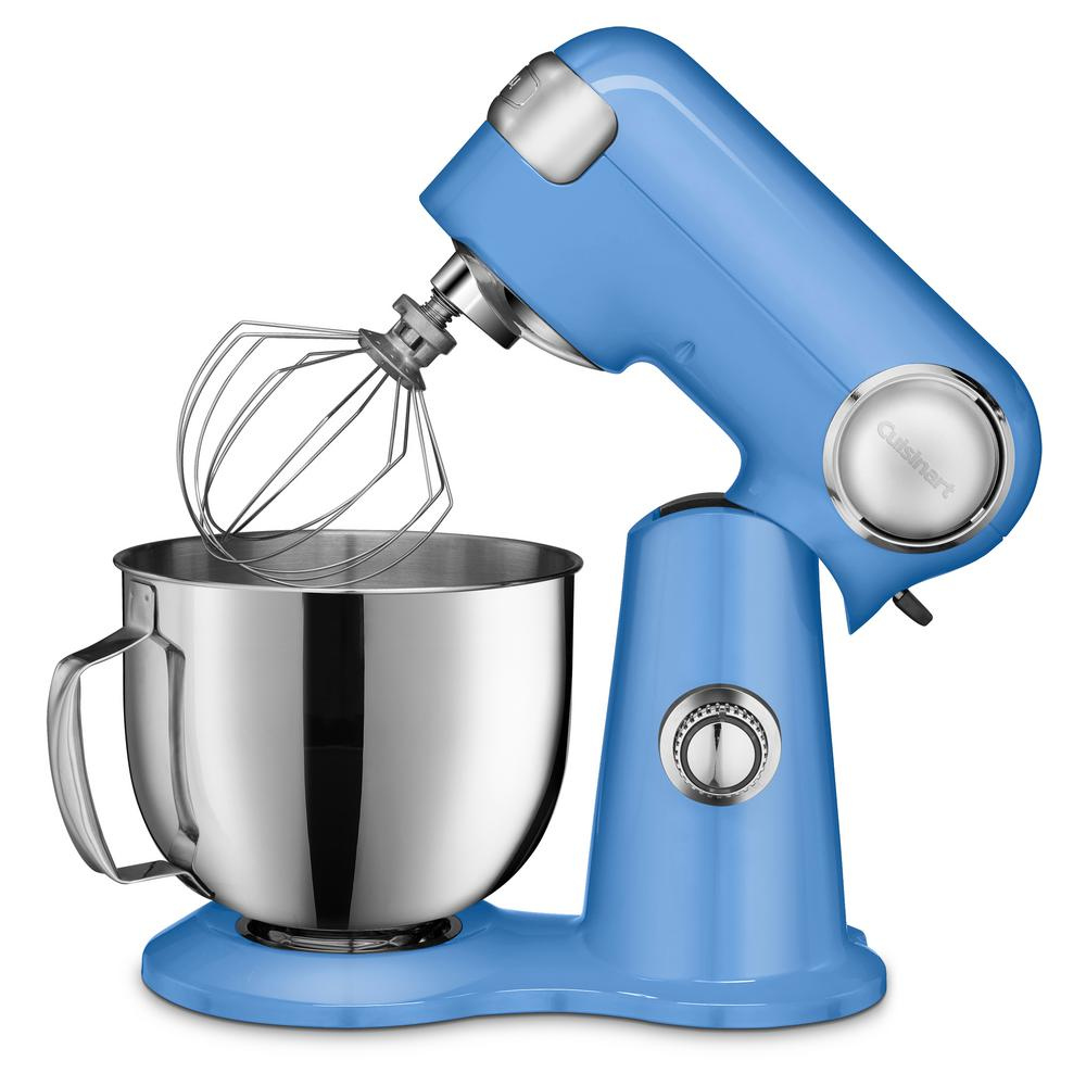 Cuisinart Precision Master 5.5 Qt. 12-Speed Periwinkle Blue Die Cast Stand Mixer