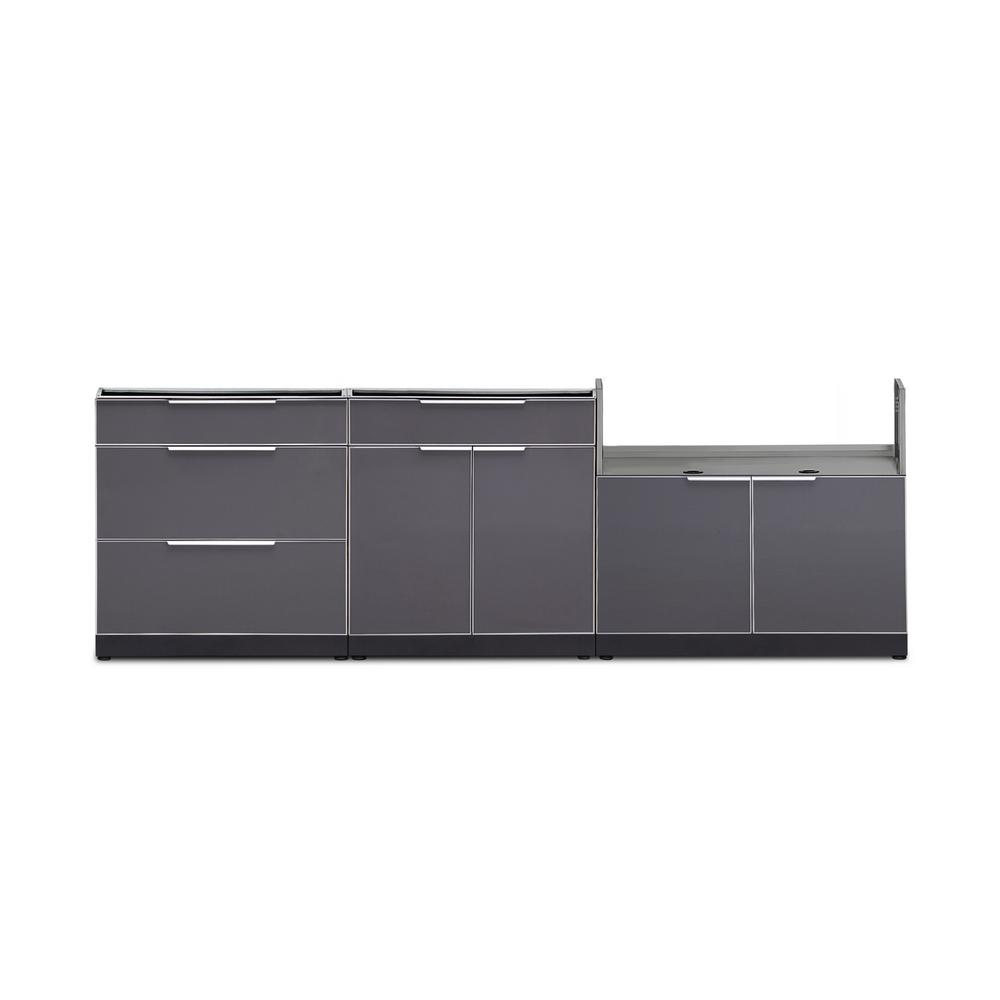 Newage Gray Outdoor Cabinet Set