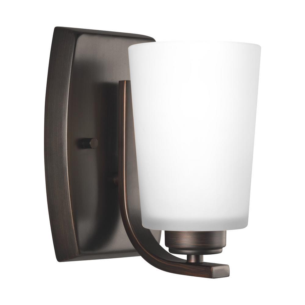 Franport 1-Light Burnt Sienna Sconce with LED Bulb