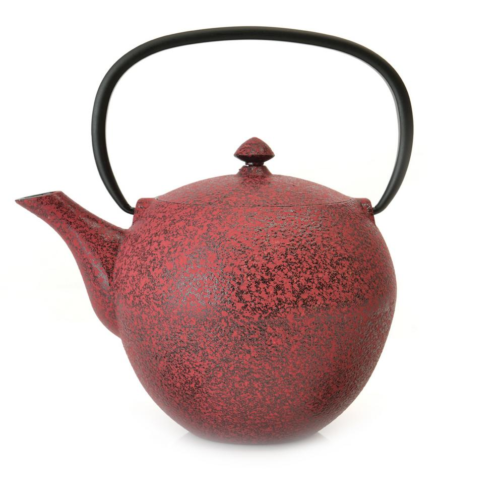 Studio 4.8-Cup Red Cast Iron Teapot