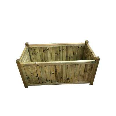 38 in. W x 20 in. D x 20 in. H Kensington Rectangular Wood Planter
