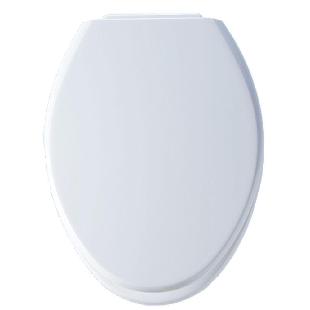 BEMIS Xcite Elongated Closed Front Toilet Seat in White