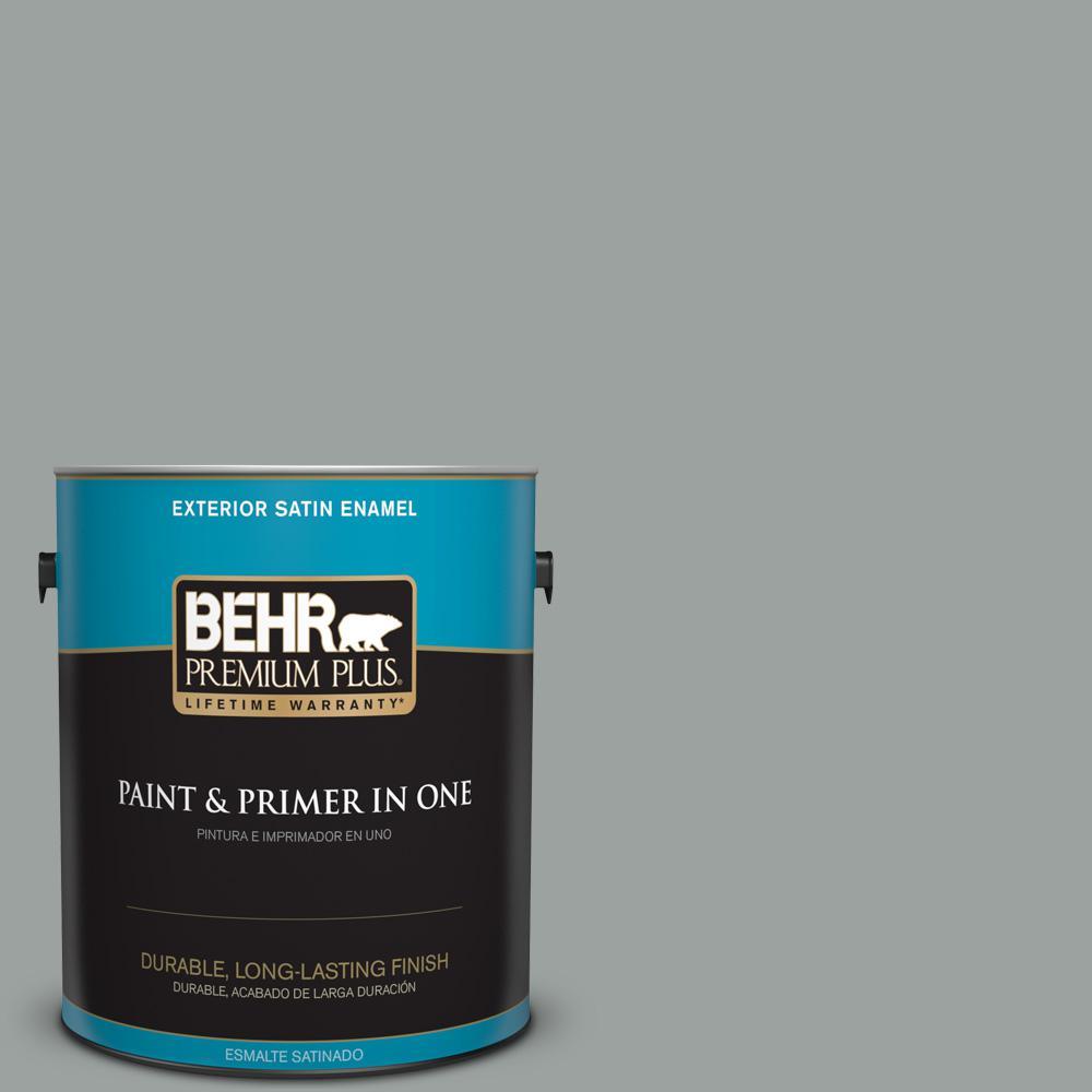 1 gal. #PPU11-16 Brampton Gray Satin Enamel Exterior Paint
