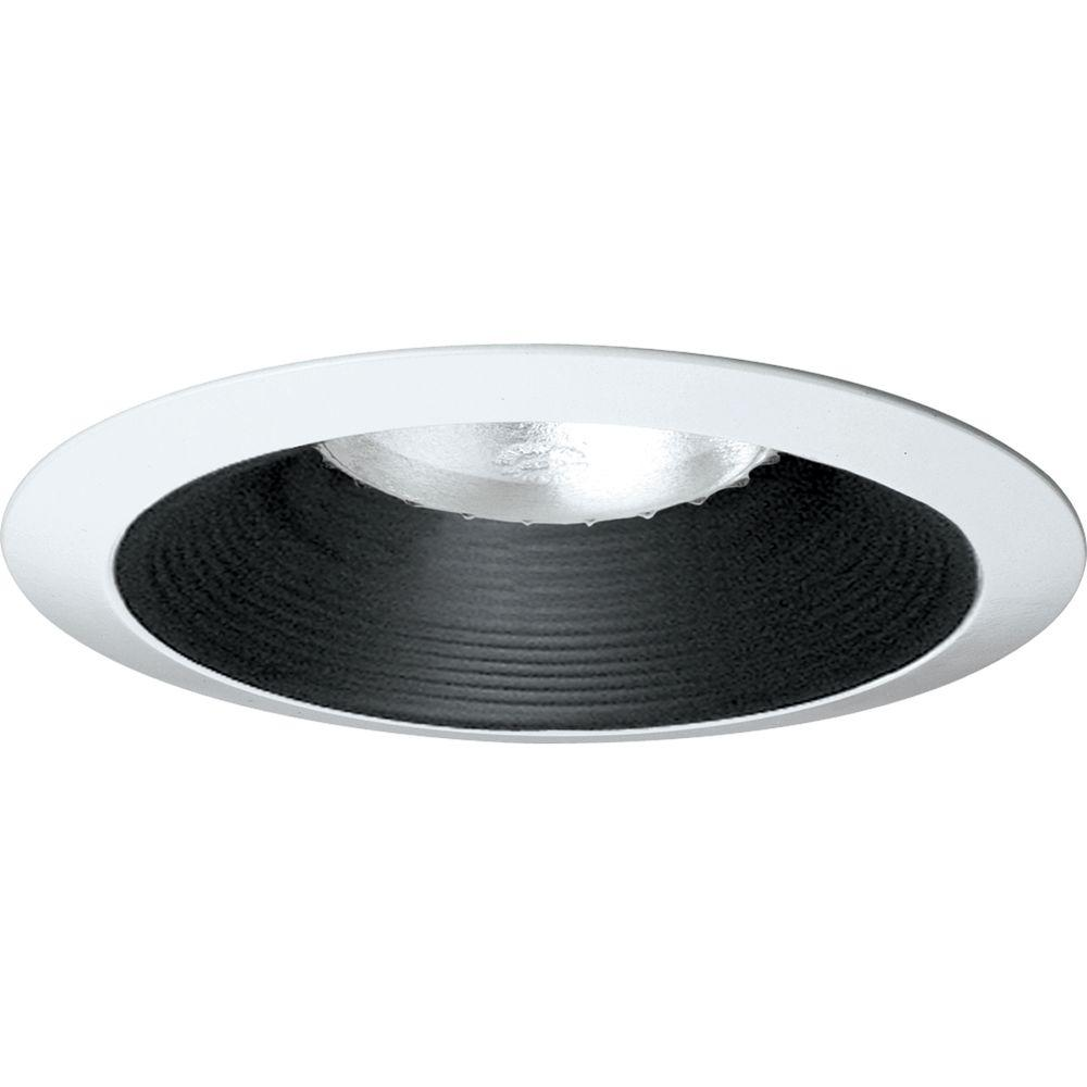Progress Lighting 6 In Black Recessed Baffle Trim P8075 31 The Home Depot