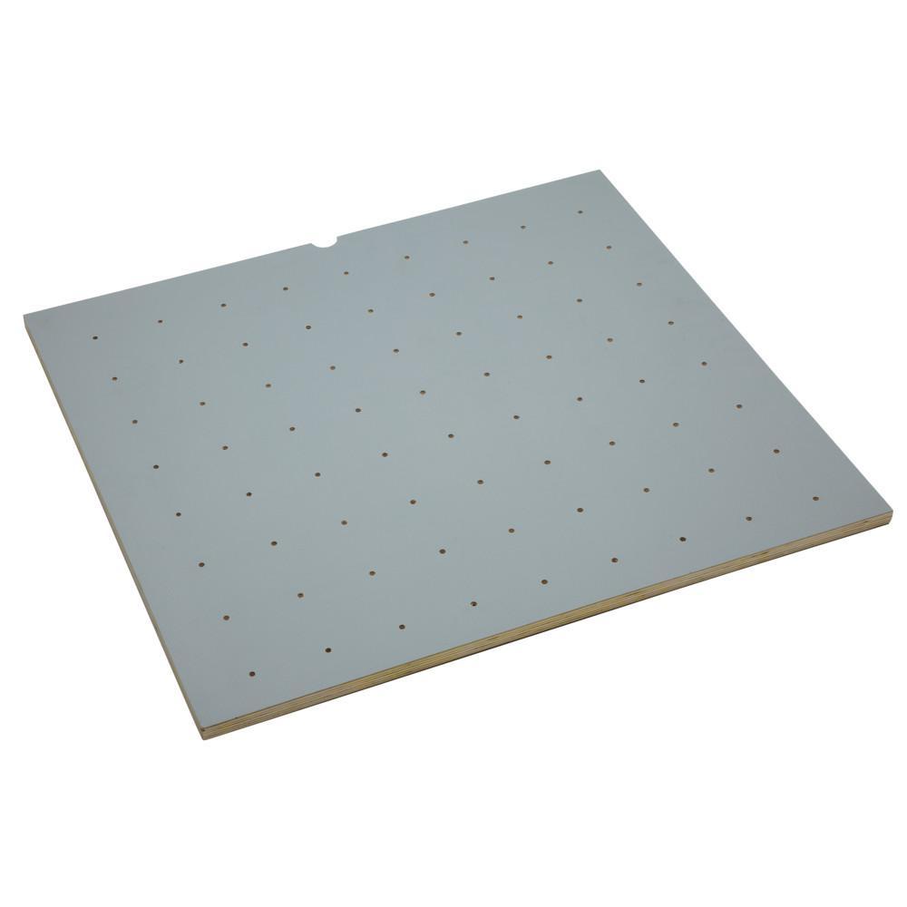 0.625 in. H x 12 in. W x 16 in. D Wood with Grey Vinyl Lining Peg Board Drawer Insert