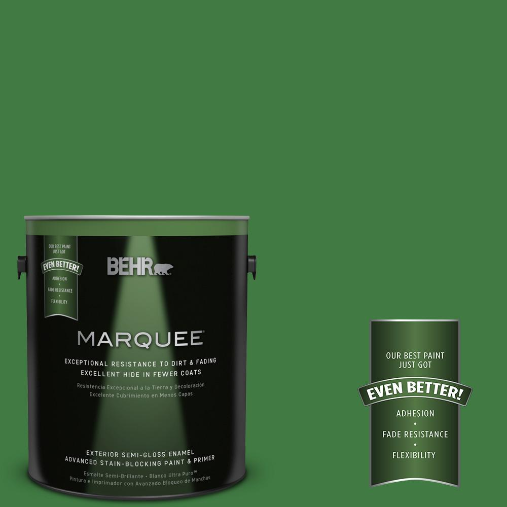 BEHR MARQUEE 1-gal. #M390-7 Hills of Ireland Semi-Gloss Enamel Exterior Paint