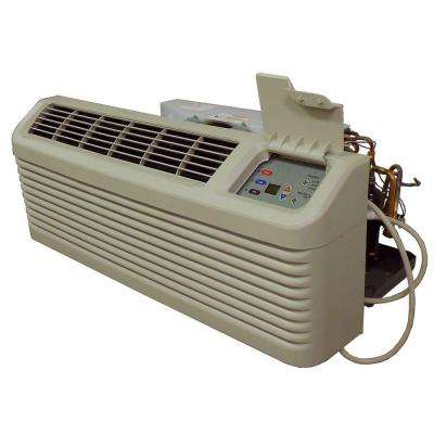 14,200 BTU R-410A Packaged Terminal Heat Pump Air Conditioner + 5.0 kW Electric Heat 230-Volt