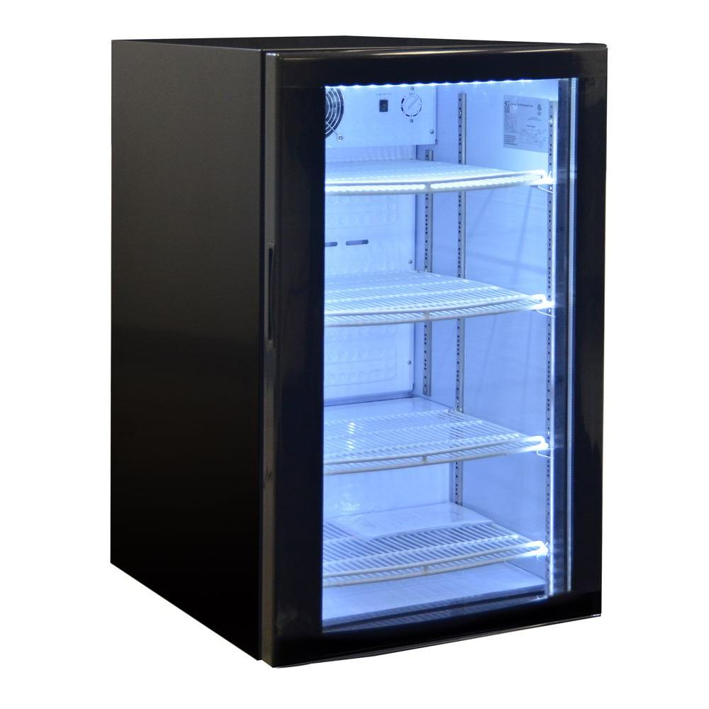 22.4 in. 182 (12 oz.) Can Curve Door Commercial Mini Refrigerator