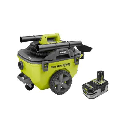 18-Volt ONE+ Cordless 6 Gal. Wet/Dry Vacuum with Lithium-Ion 4.0 Ah LITHIUM+ HP High Capacity Battery