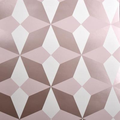 Newby Rose Gold Geometric Wallpaper