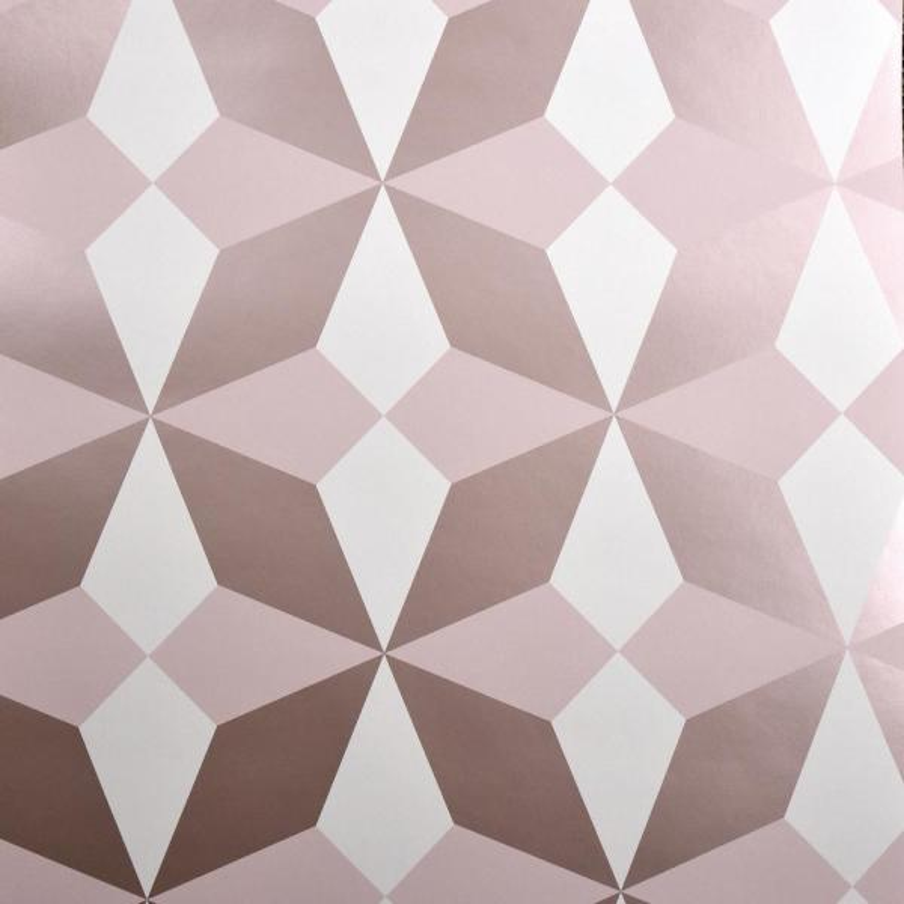 Fine Decor Newby Rose Gold Geometric Gold Wallpaper Sample 2900 42547sam The Home Depot