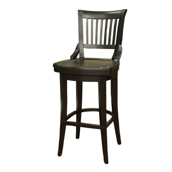 American Heritage Liberty 34 in. Black Bar Stool