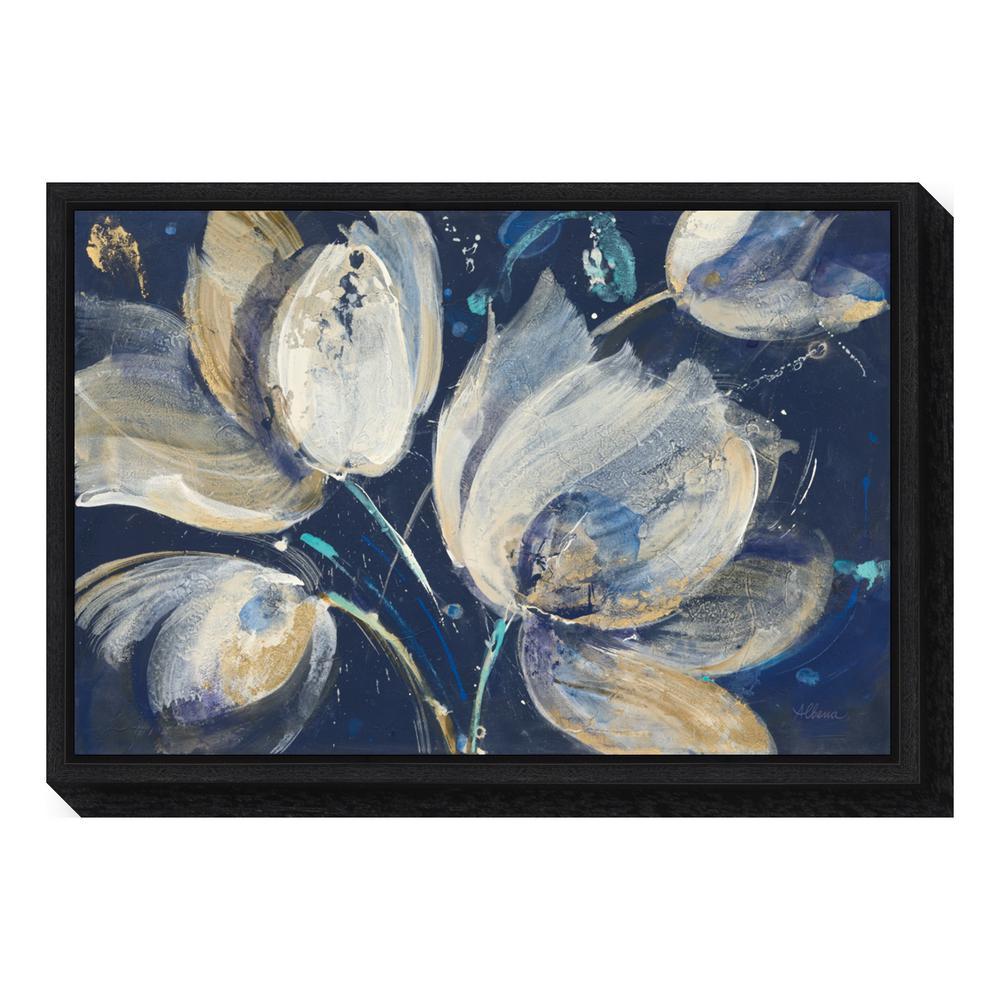 amanti art midnight garden by albena hristova framed canvas wall art - Garden Wall Artwork