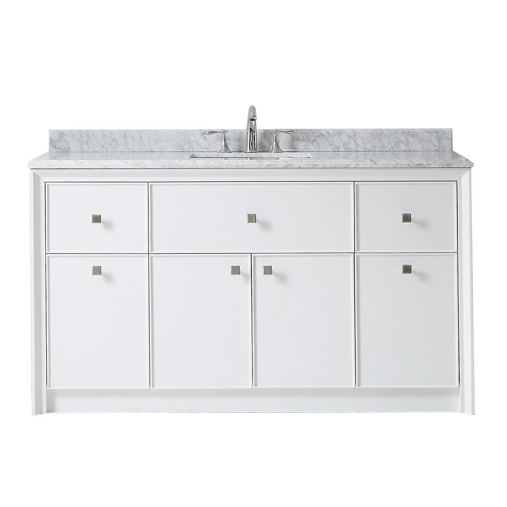 Parrish 60 In W X 22 D Bath Vanity Bright White With