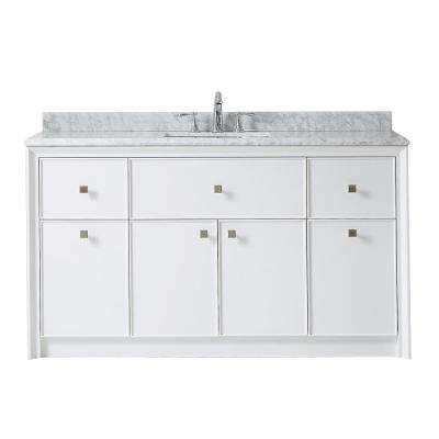 Etonnant D Bath Vanity In Bright White With