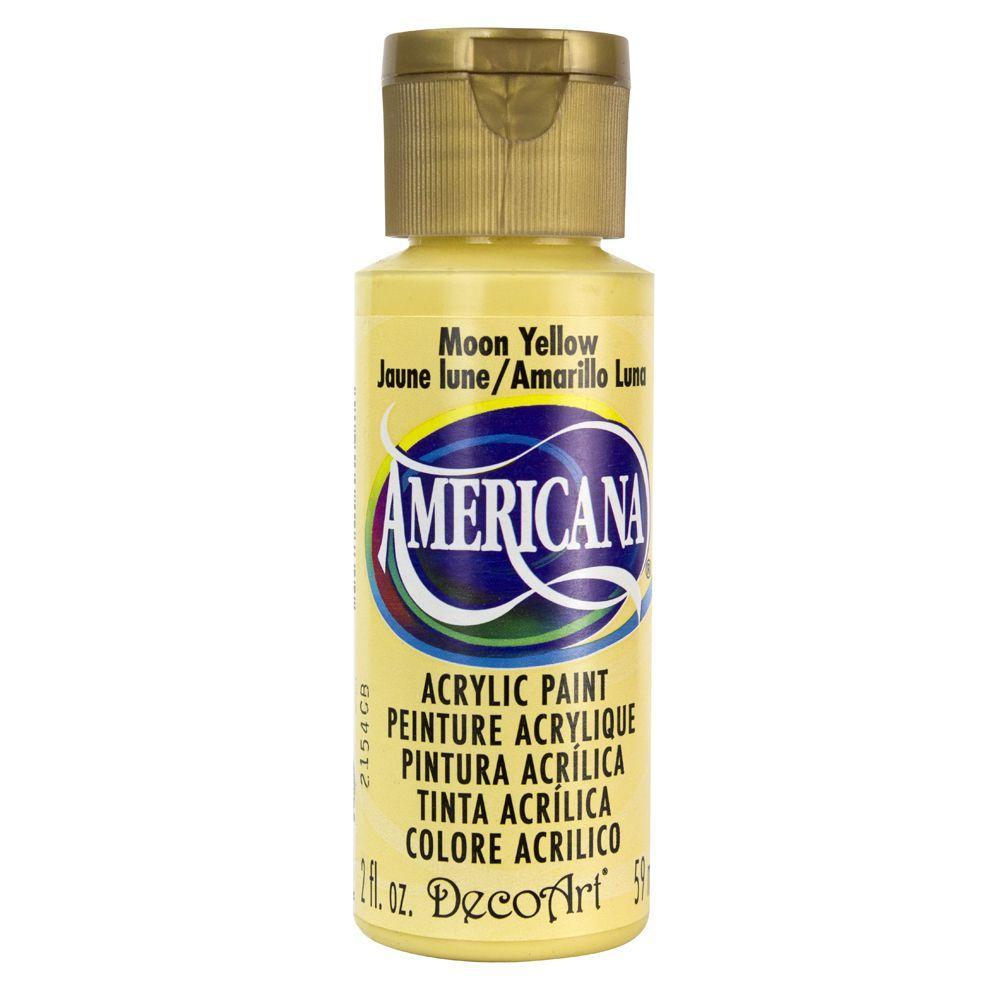 Americana 2 oz. Moon Yellow Acrylic Paint