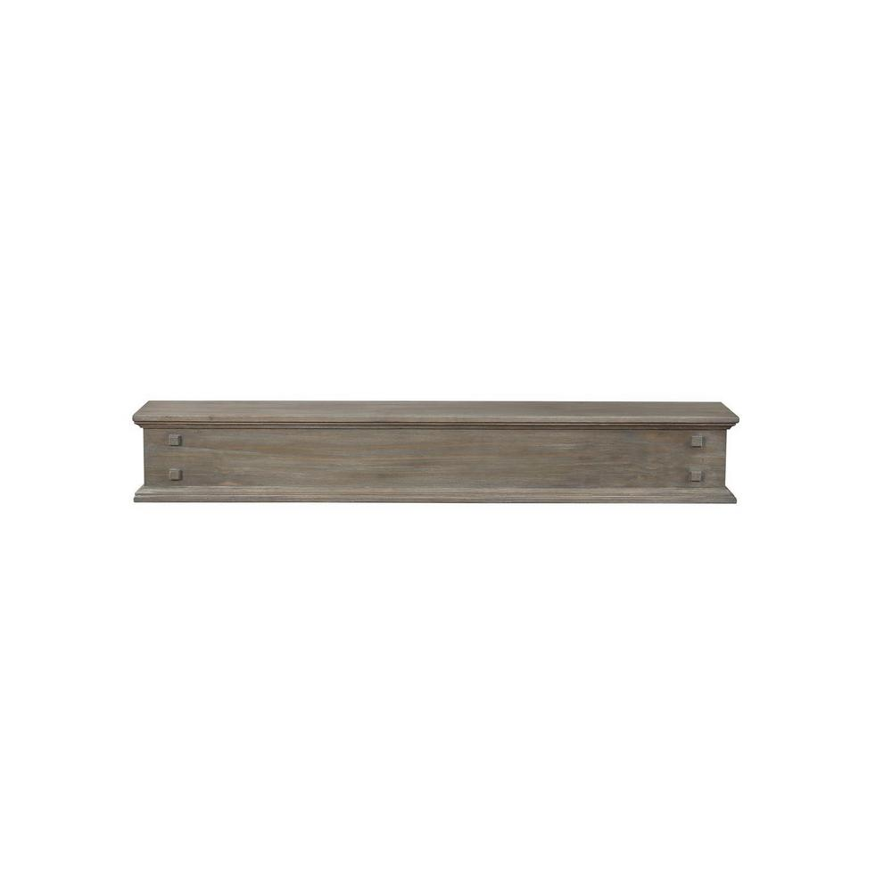 The Jackson 5 ft. Outer Banks Distressed Cap-Shelf Mantel with Side