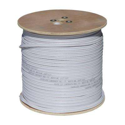 1000 ft. RG59 Coaxial Cable with Power Cable - White