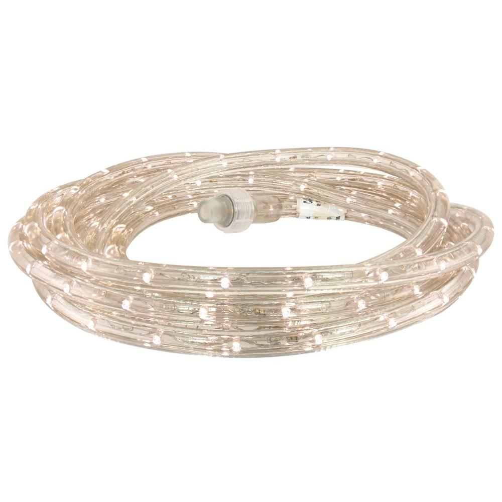 Commerical Tape Light: Commercial Electric 18 Ft. White LED Rope Light Kit-LED-DL
