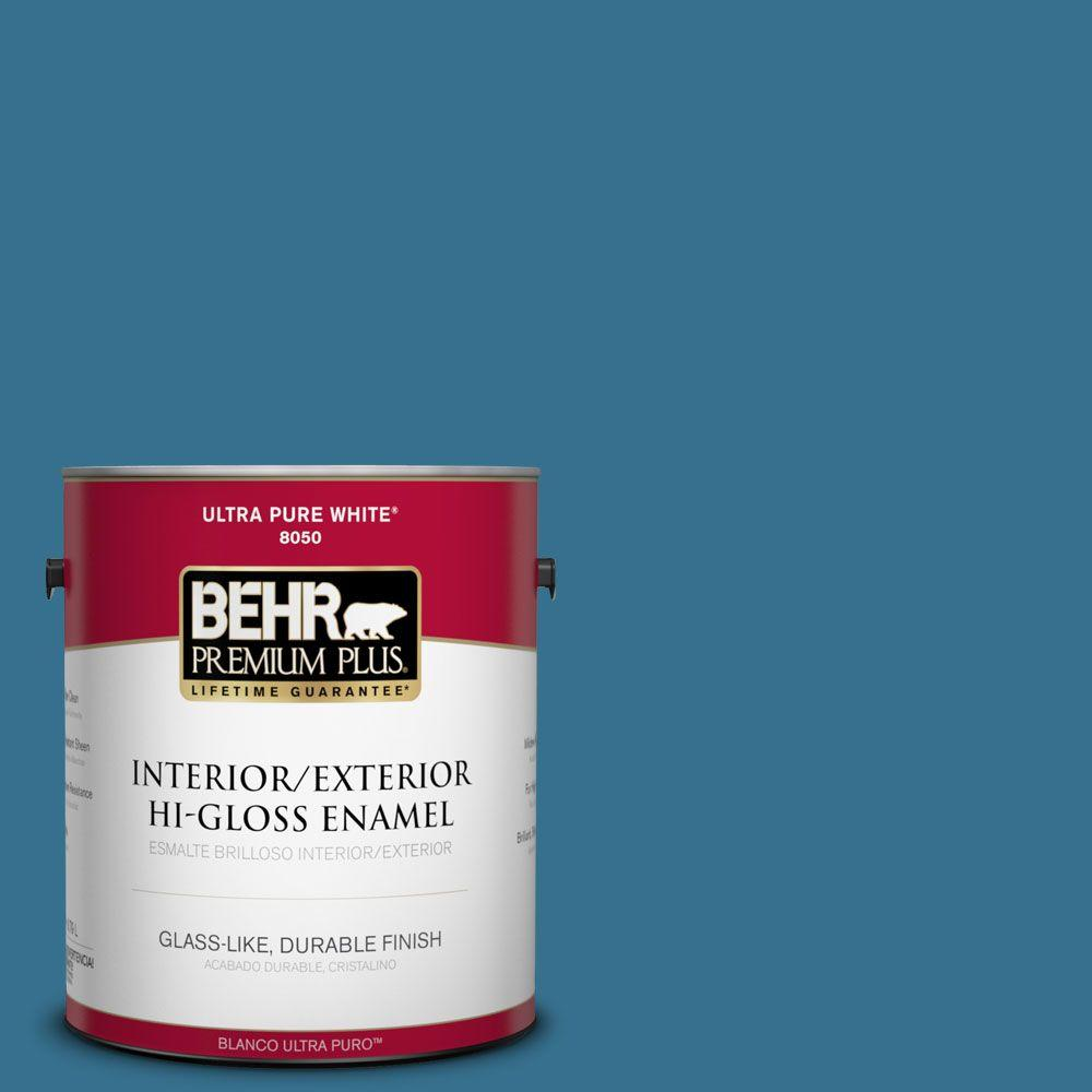 1-gal. #M490-6 Living Stream Hi-Gloss Enamel Interior/Exterior Paint
