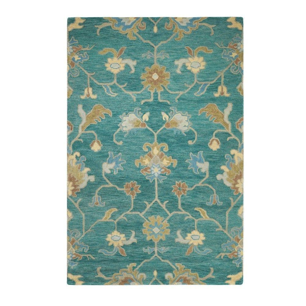 home decorators collection montpellier teal 7 ft 9 in x