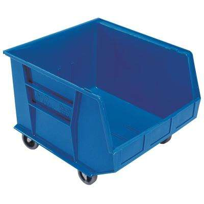 Ultra Series Stack and Hang 30 Gal. Storage Bin in Blue (3-Pack)