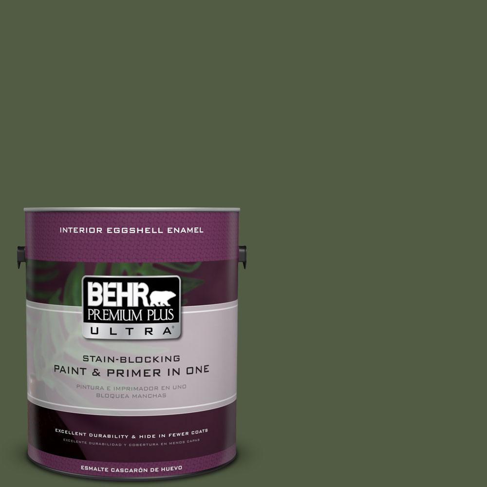 BEHR Premium Plus Ultra 1-gal. #420F-7 Forest Ridge Eggshell Enamel Interior Paint