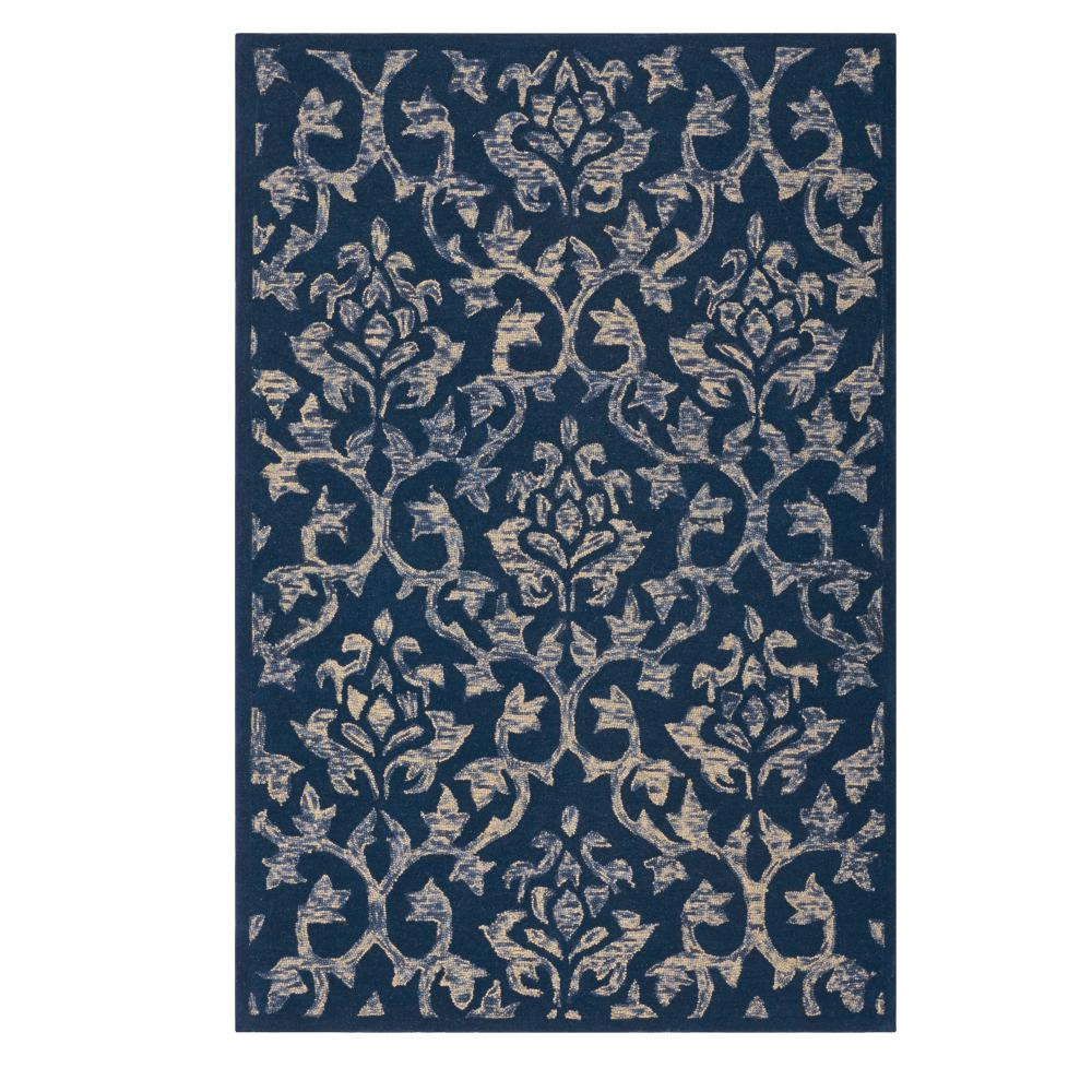 Home decorators collection gia blue 2 ft x 3 ft area rug for Home decorators rugs blue
