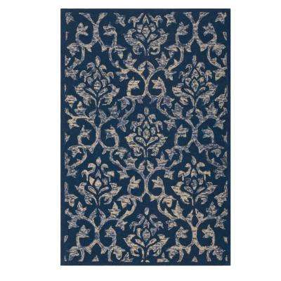 Gia Blue 3 ft. 6 in. x 5 ft. 6 in. Area Rug