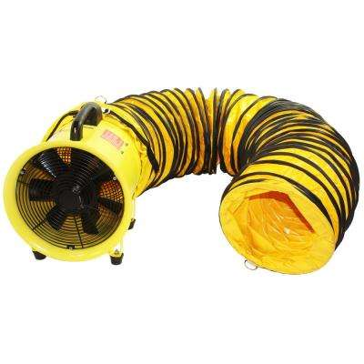 12 in. High-Velocity Portable Blower and Exhaust Fan with Hose