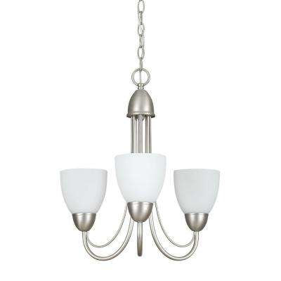 Fiscus 3-Light Satin Nickel Chandelier