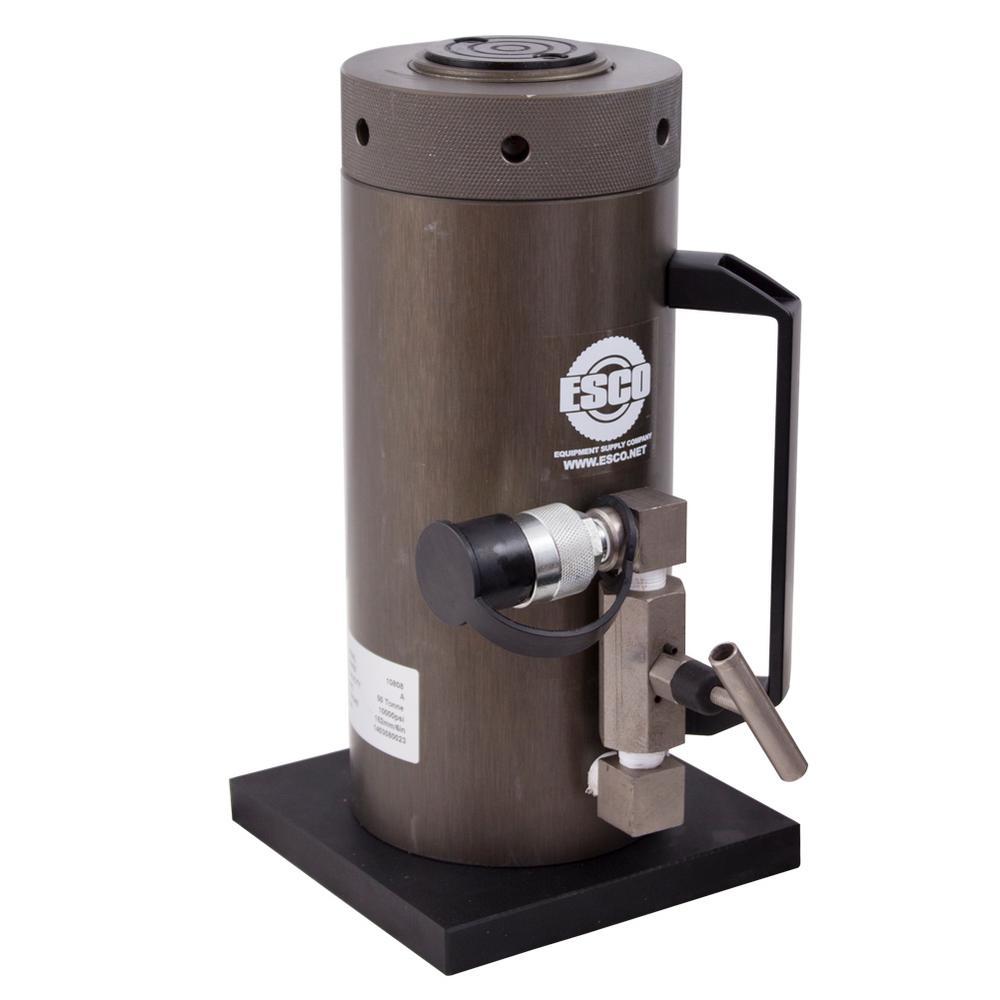 50-Ton Heavy-Duty Hydraulic Locking Collar Cylinder Jack